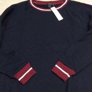 New J Crew Tipped Sweatshirt. Sz S